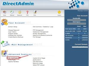 Hướng dẫn cài đặt SSL trên Directadmin